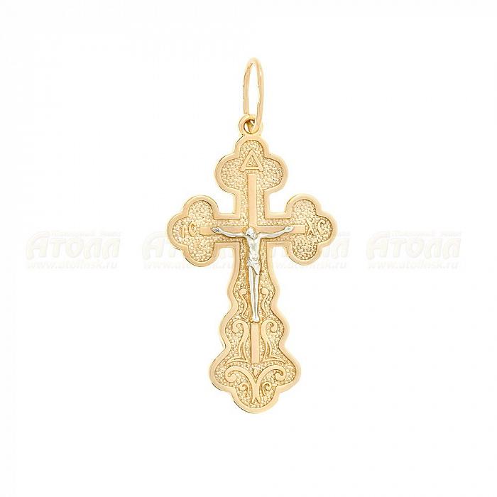 Серебряная православная подвеска крестик